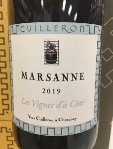 Yves Cuilleron Marsanne Collines Rhodaniennes 2019