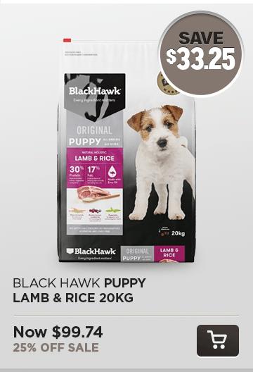 Black Hawk Puppy Lamb & Rice 20kg