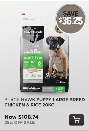 Black Hawk Puppy Large Breed Chicken & Rice 20kg