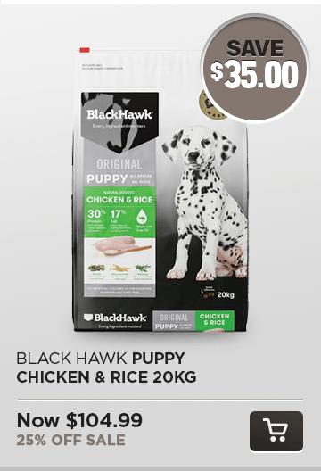 Black Hawk Puppy Chicken & Rice 20kg