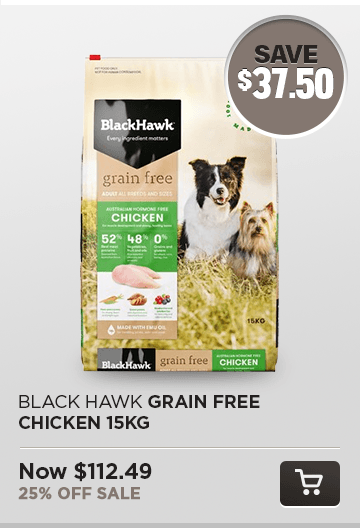 Black Hawk Grain Free Chicken 15kg