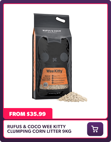 RUFUS AND COCO WEE KITTY CLUMPING CORN LITTER 9KG