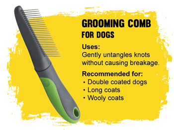 Grooming comb for dogs