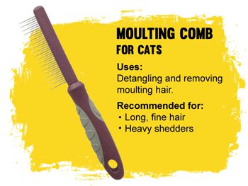 Grooming Moulting comb for cats