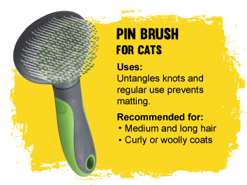 Grooming Pin brush for cats