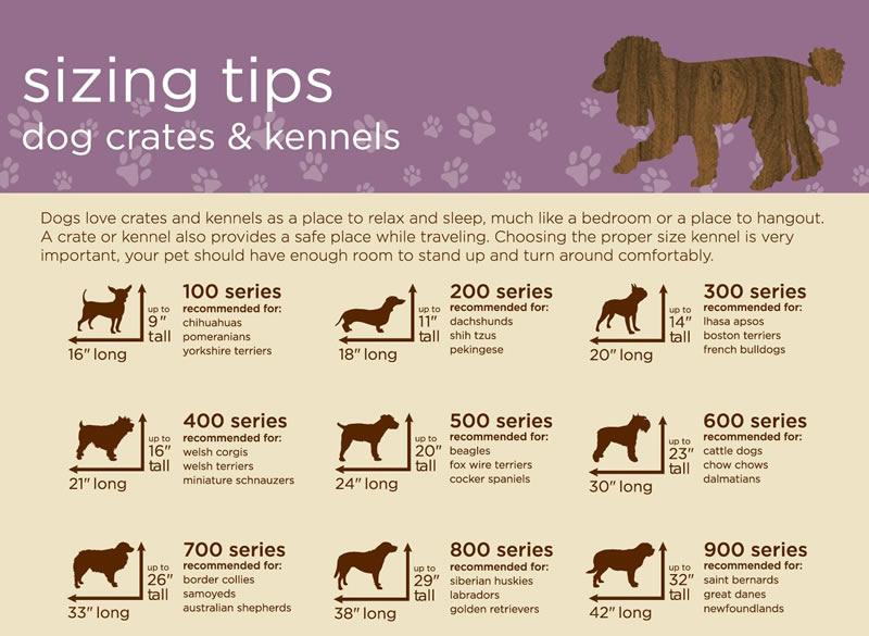 Dog Kennel Sizing Chart
