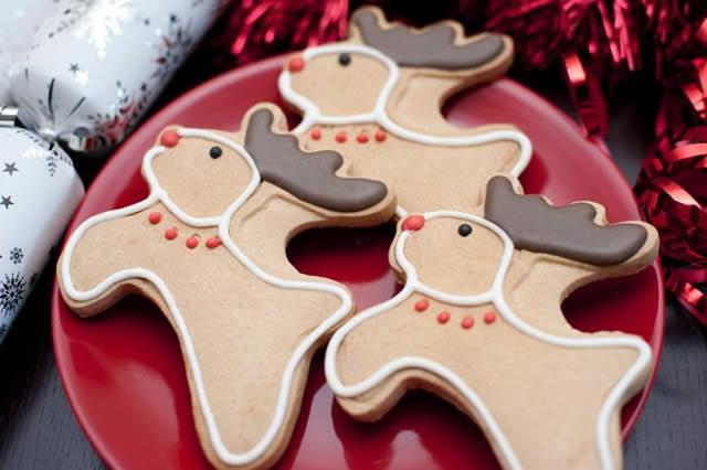 Freshly baked Christmas Reindeer Cookies
