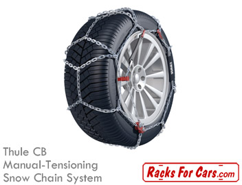 Thule CB manual-tensioning snow chain system
