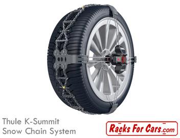 Thule K-Summit snow chain system, zero rear clearance snow chain