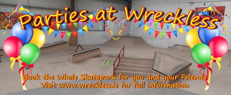 Parties at Wreckless Indoor skatepark