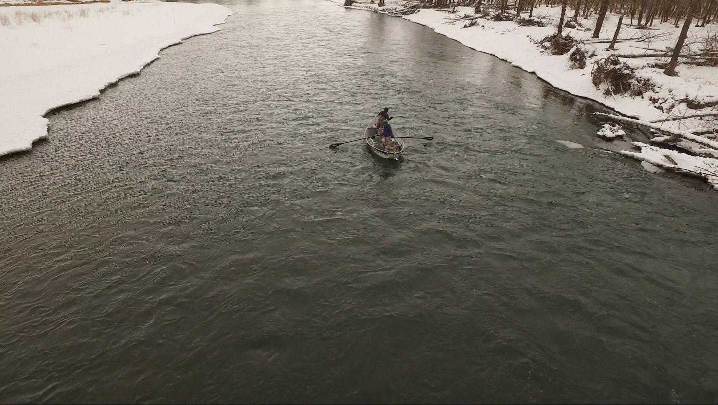 Bow River Winter drift float