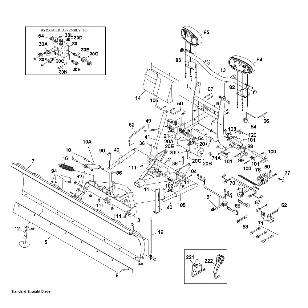 [TBQL_4184]  Boss Standard Duty, Super Duty and Poly Straight Blade Snow Plow Parts -  Angelos Supplies - SiteOne | Boss Rt3 Straight Blade Wiring Diagram |  | Angelo's Supplies
