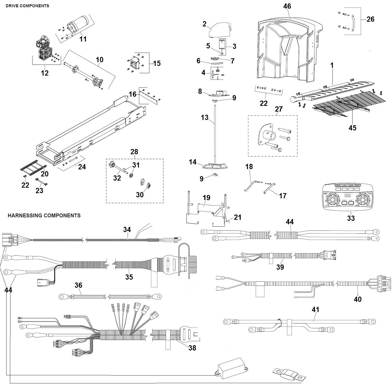 Fisher Poly Caster Salt Spreader Parts Diagram / Schematic