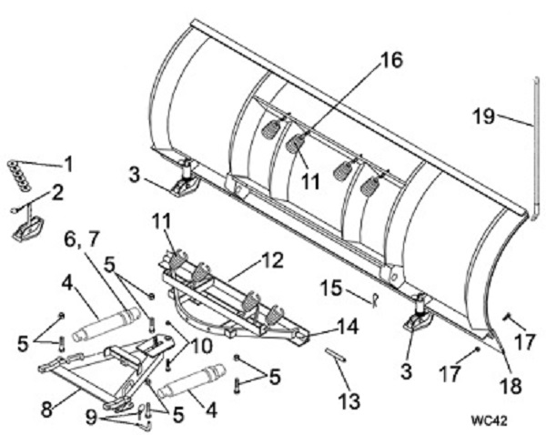 Meyer Products Snow Plow Parts Commercial Plow Schematic Angelo's Supplies
