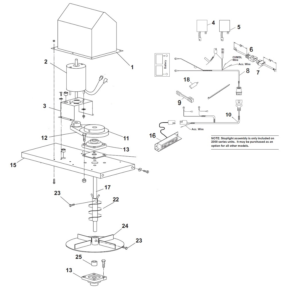 Schematic for Western 110 Tailgate Salt Spreader and Parts