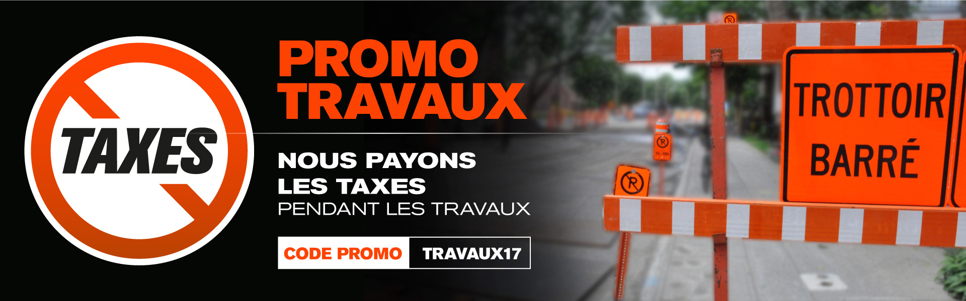 Travaux 2017 avenue mont royale