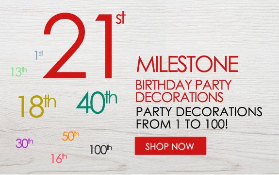 Milestone Birthday Decorations