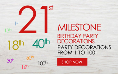 Milestone Birthday Age Decorations