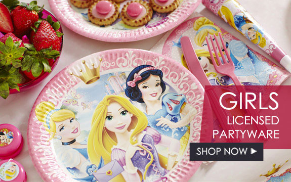 Girls Licensed Partyware