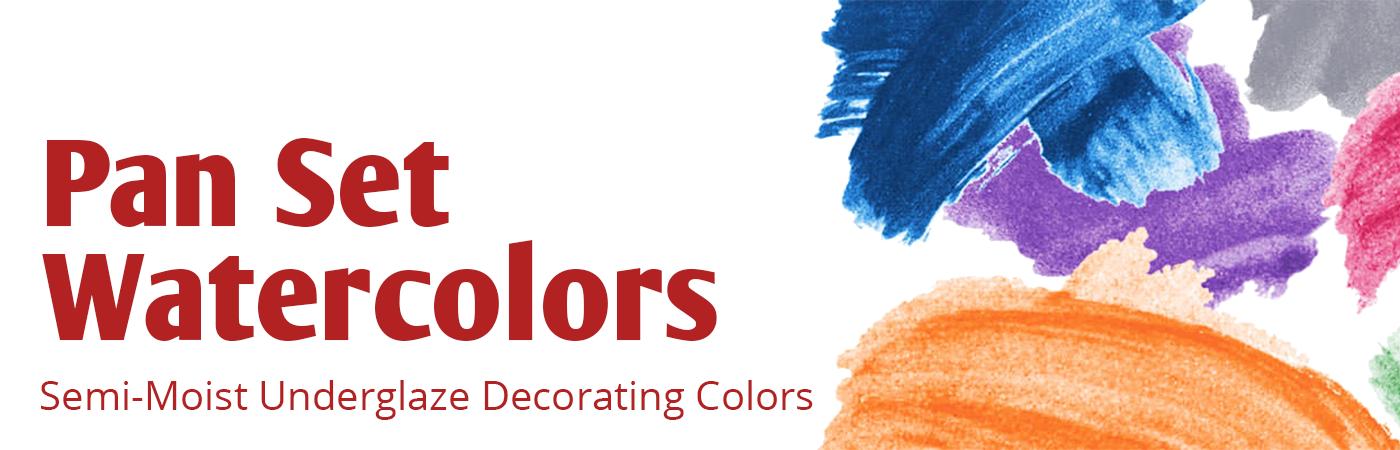 Amaco Pan Set, Underglaze Sem Moist Decorating Colors