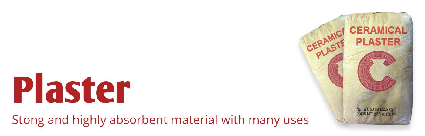 plaster, pottery plaster, hydrocal, hydrostone, ultracal, fgr plaster