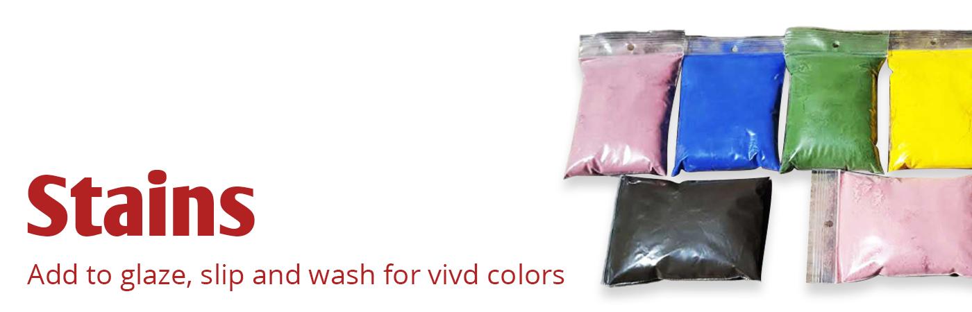 mason stain, Degussa stain, ceramic stain, body stain, glaze stain, glaze colorant