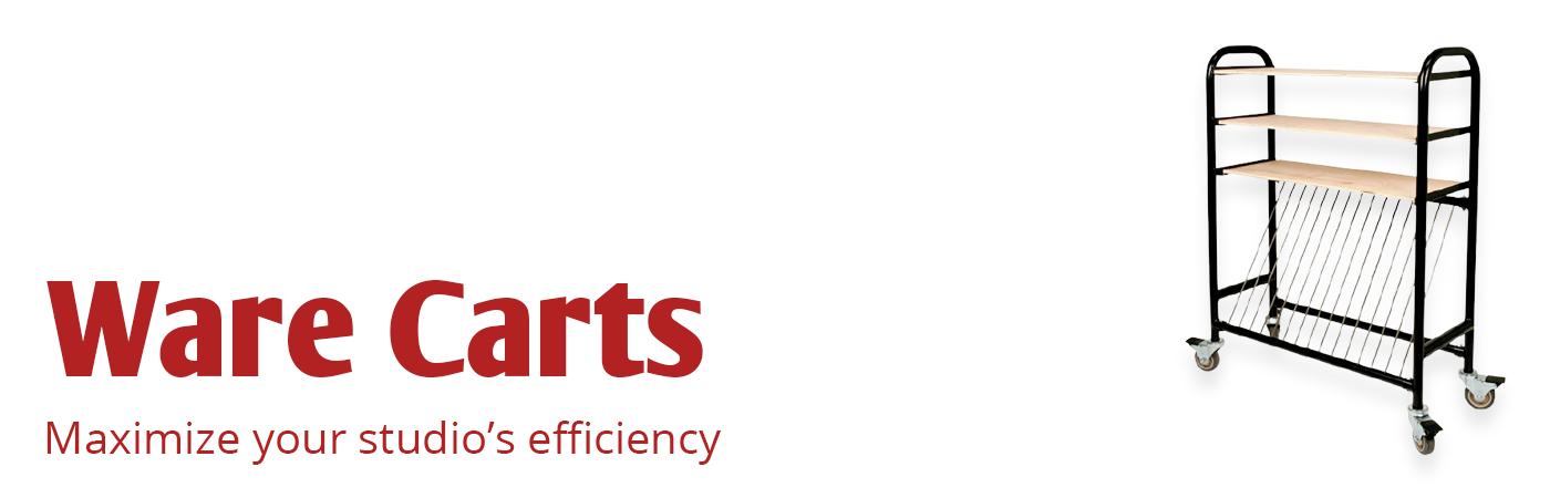 Ware Cart, studio efficiency, kiln shelf units shelving unit