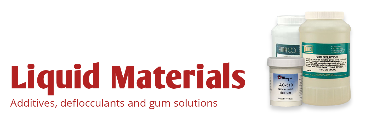 additives, deflocculants, gum solutions