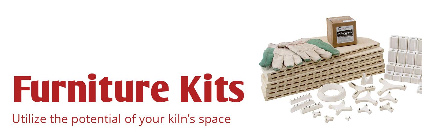 kiln furniture, furniture kits, kiln shelves, kiln posts