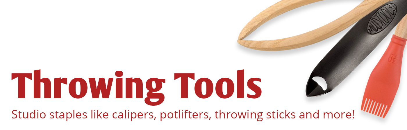 throwing tools, calipers, pot lifters, throwing sticks, blades, wheel-throwing