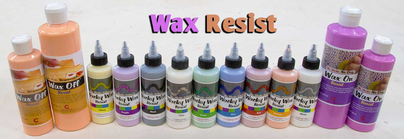 wax, wax resist, ceramic wax, ceramic wax resist, pottery wax resist, tile wax, tile wax resist, mask n' peel, wax bottle, wax bottle applicator, amaco wax resist, artistic line resist, wacky wax, wacky wax black, wacky wax blue, wacky wax white, black wax resist, removable wax resist, wax off, wax on, mobilcer a, standard wax resist, green wax resist, aftosa wax resist, crystalcer c