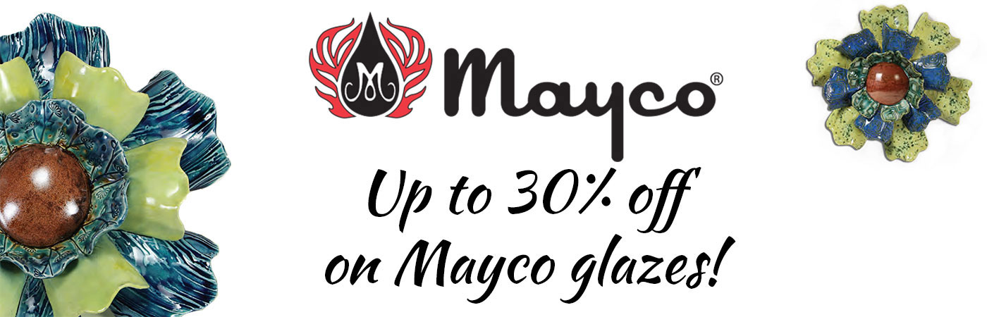 Mayco glazes, mayco glaze crystalites, element chunkies, jungle gems, stroke & coats, speckled stroke & coats, pottery cascade, mayco glaze sale, mayco glaze color chart, mayco glaze discount