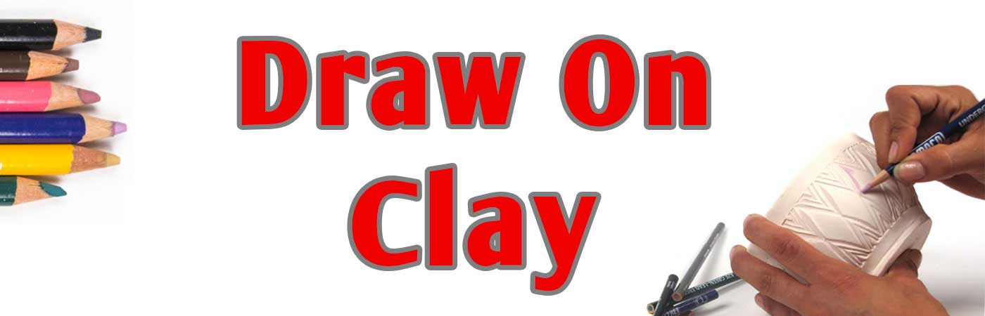 glaze pens, metallic luster pens, underglaze chalks, underglaze pencils, draw on clay, ceramic decoration, designer liners