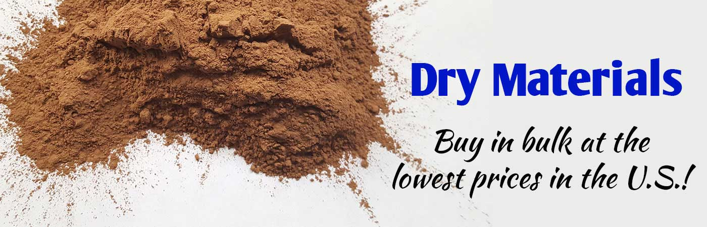 dry materials, dry clay, dry chemicals