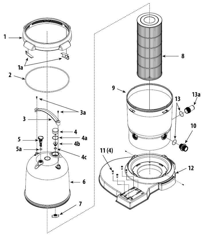 ClearWater II Cartridge Filter Diagram