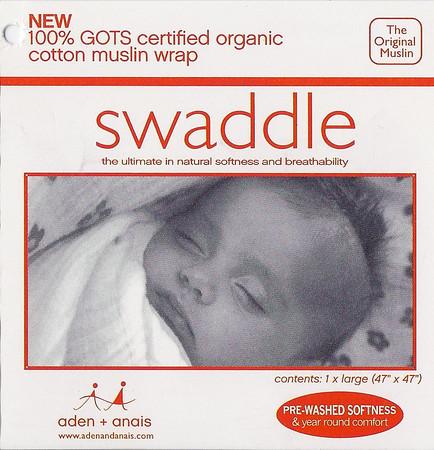 Muslin swaddle label side 1