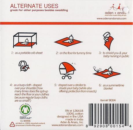 Muslin swaddle label side 4