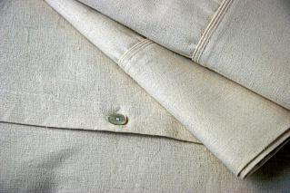 hemp bedsheets double pleat trim