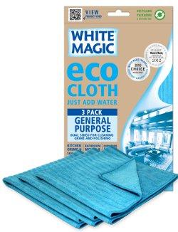 White Magic Microfibre General Purpose Eco Cloth