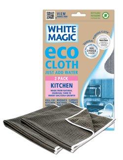 White Magic Microfibre Kitchen Eco Cloth 2 Pack