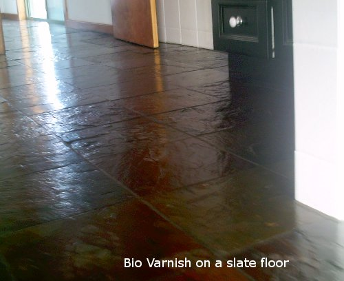 Bio Floor Varnish to seal a slate floor