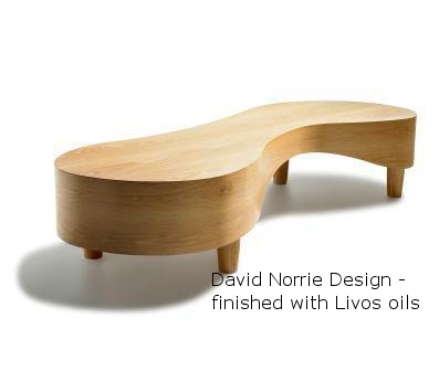David Norrie Design coffee table finished with Livos oils.