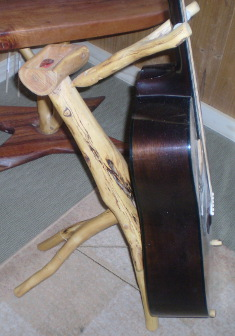 Guitar stand by Dave Brindley, Tasmania