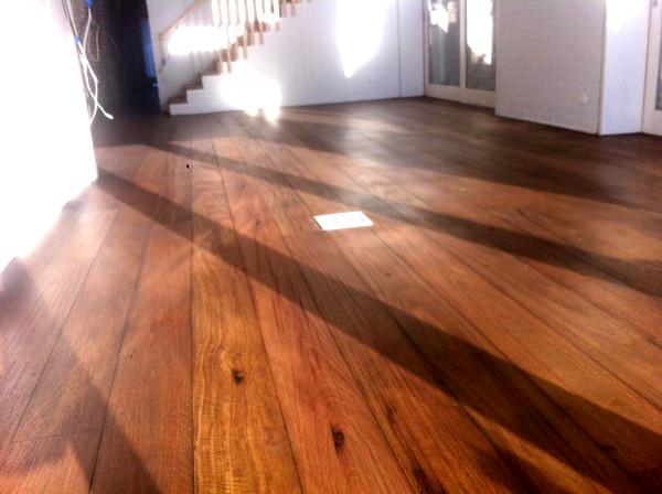 Livos Kunos 'Smoked Oak' on floor in Rozelle