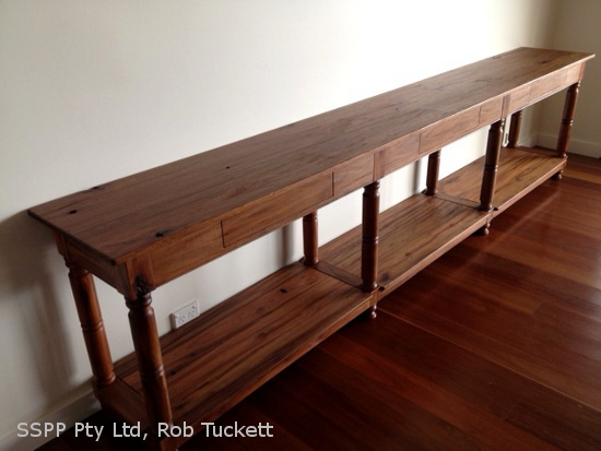 Ironbark table finished in natural Livos Kaldet Stain Oil