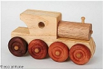 Wooden Toy Trucks - a Firetruck, Steam Engine, Tip Truck and Car Truck