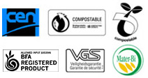 biodegradability logos awarded to Biofilm Bags