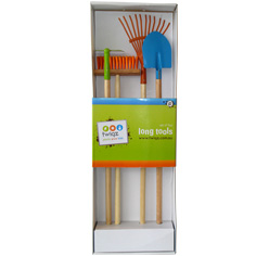 Childs long handled gardening tools