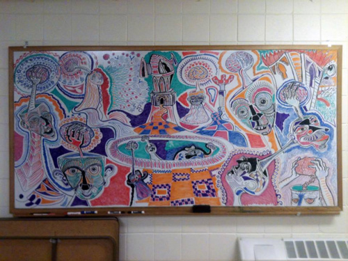 Colourful whiteboard pic