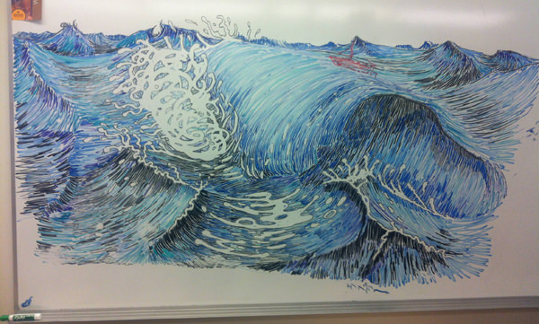 waves whiteboard picture
